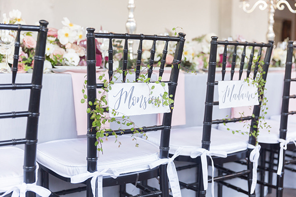 sweetheart chairs - photo by Ryan & Alyssa Photography http://ruffledblog.com/french-couture-wedding-inspiration