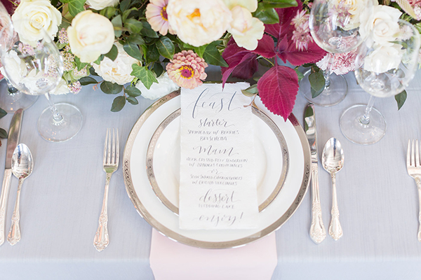 wedding menus - photo by Ryan & Alyssa Photography http://ruffledblog.com/french-couture-wedding-inspiration