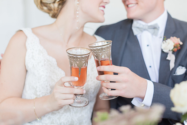 antique champagne glasses - photo by Ryan & Alyssa Photography http://ruffledblog.com/french-couture-wedding-inspiration