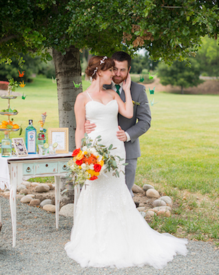 Orange, yellow, and green wedding inspiration | Kelly Marie Photography