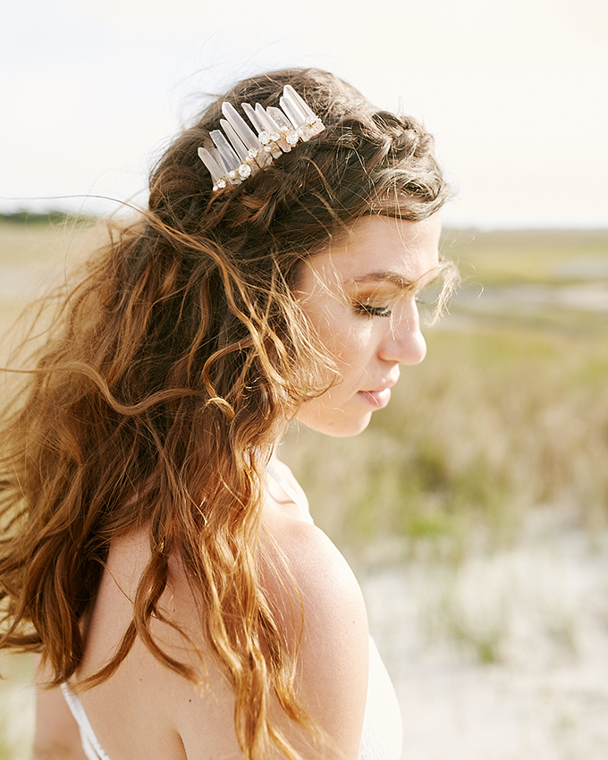 There was also a crystal headpiece made for the bride
