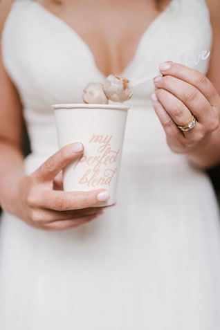 Coffee wedding theme | Lauren Rae Photography