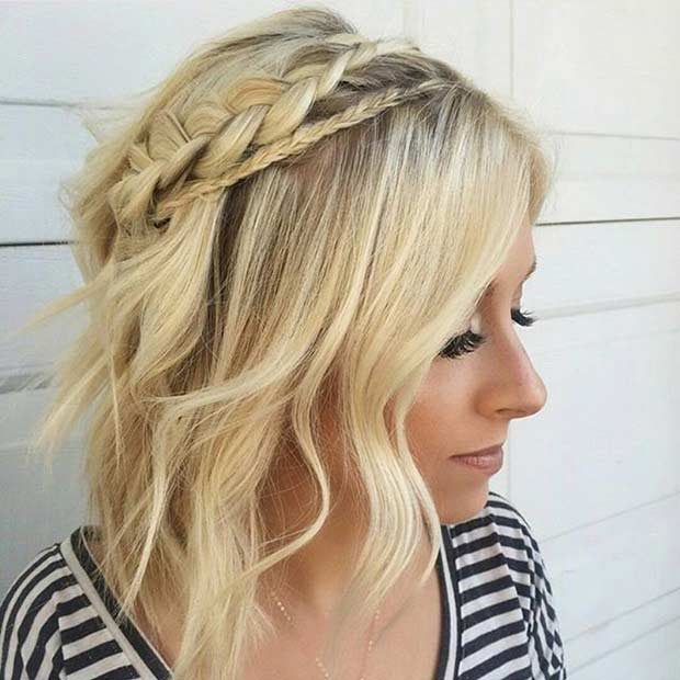 Easy Braided Hairstyle for Bob Haircut
