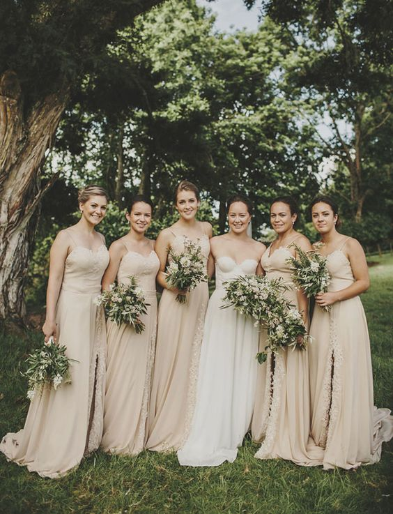 soft nude strap maxi gowns for gals