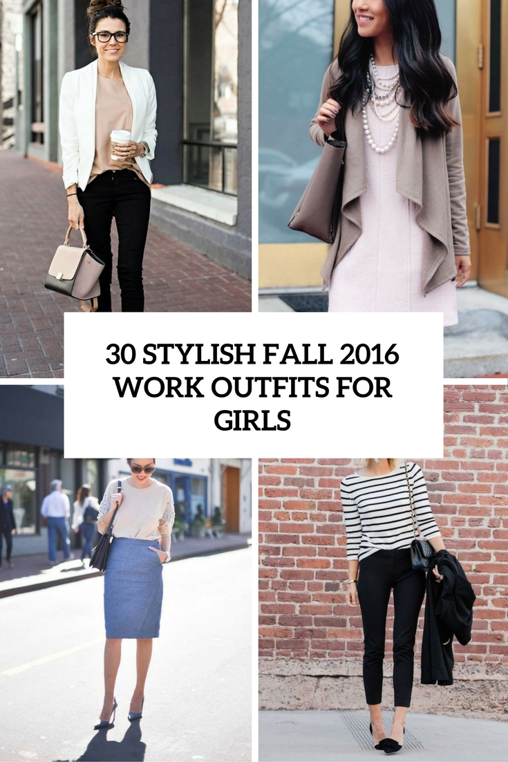 stylish fall 2016 work outfits for girls cover