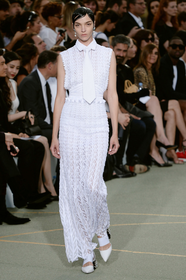 Givenchy textural maxi dress with a tie