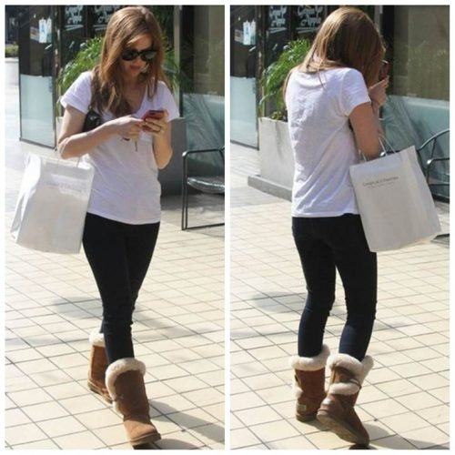 How to wear Shearling Boots - Ideas to wear Dresses with boots (5)