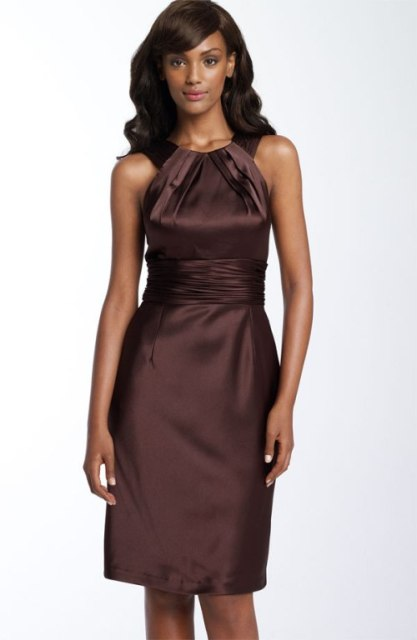 Halter knee-length dress