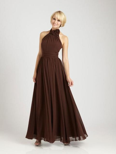 Halter maxi chiffon dress