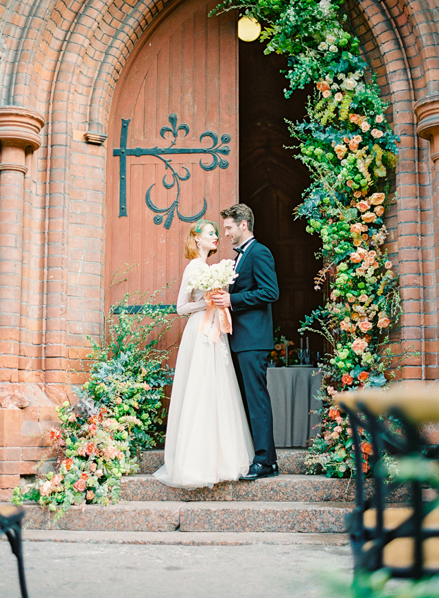Peach and green wedding inspiration | Kir & Ira Photography