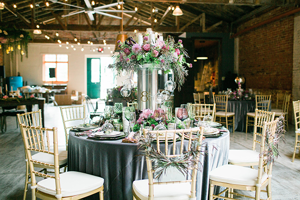 Industrial Meets Whimsical Wedding Inspiration - photo by On a Whim Photography http://ruffledblog.com/industrial-meets-whimsical-wedding-inspiration