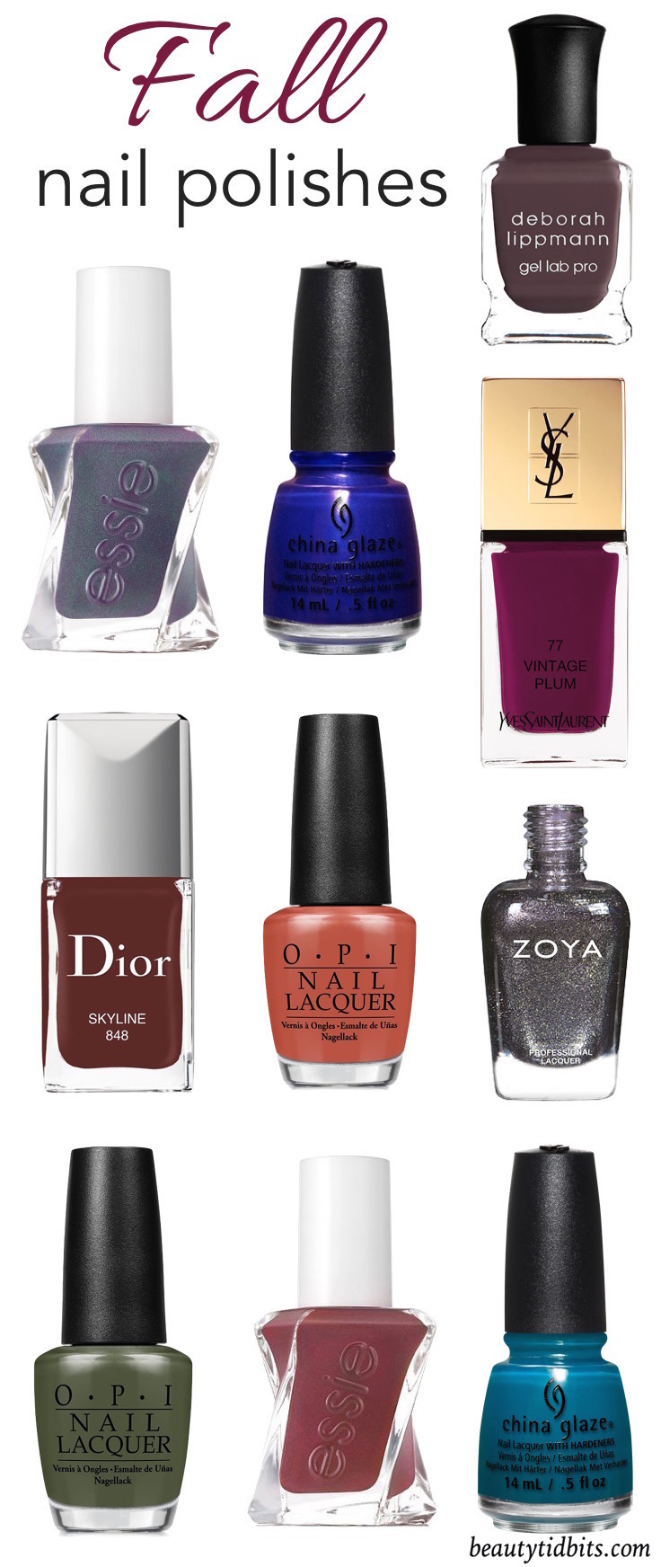 From the perfect plums to moody blues & greys, here are some of the best new fall nail polish colors you're going to want now!