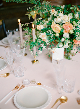 Elegant and classic wedding tablescape | Kir & Ira Photography