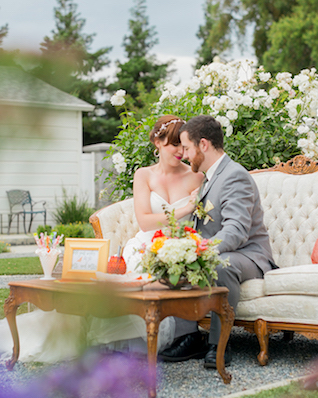 Outdoor lounge area | Kelly Marie Photography