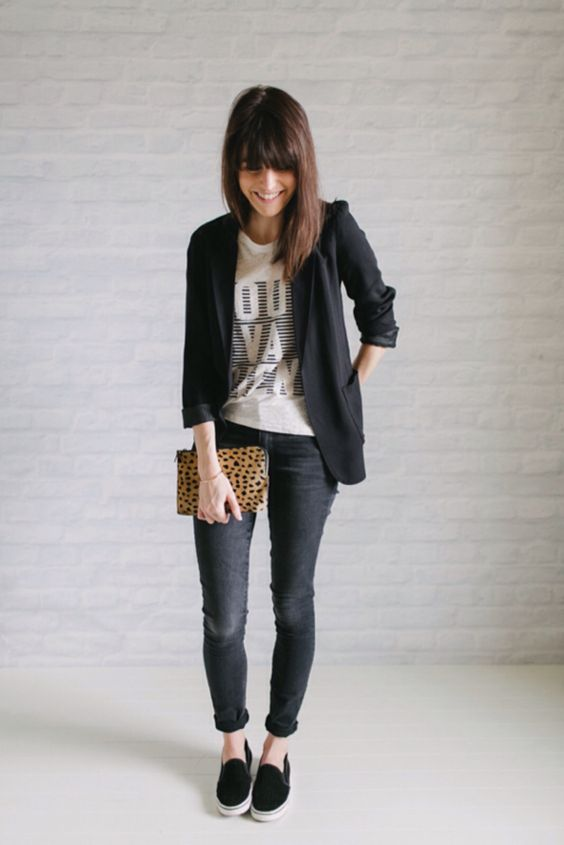 Cute Outfit Ideas To Wear With Slip-On Sneakers (11)