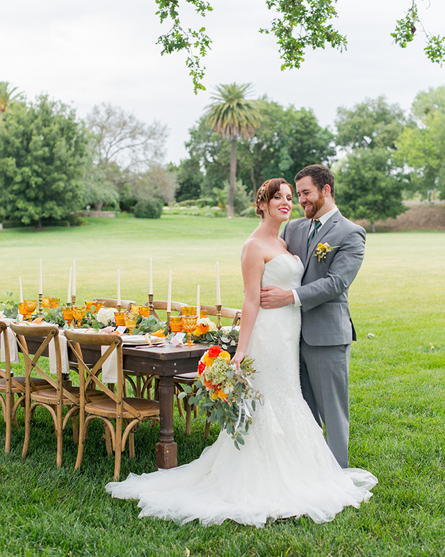 Orange, green, and yellow wedding inspiration | Kelly Marie Photography