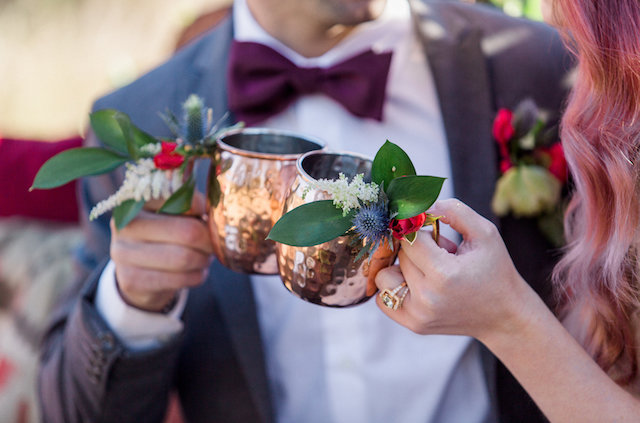 Moscow mule copper cups | Molly Lichten Photography