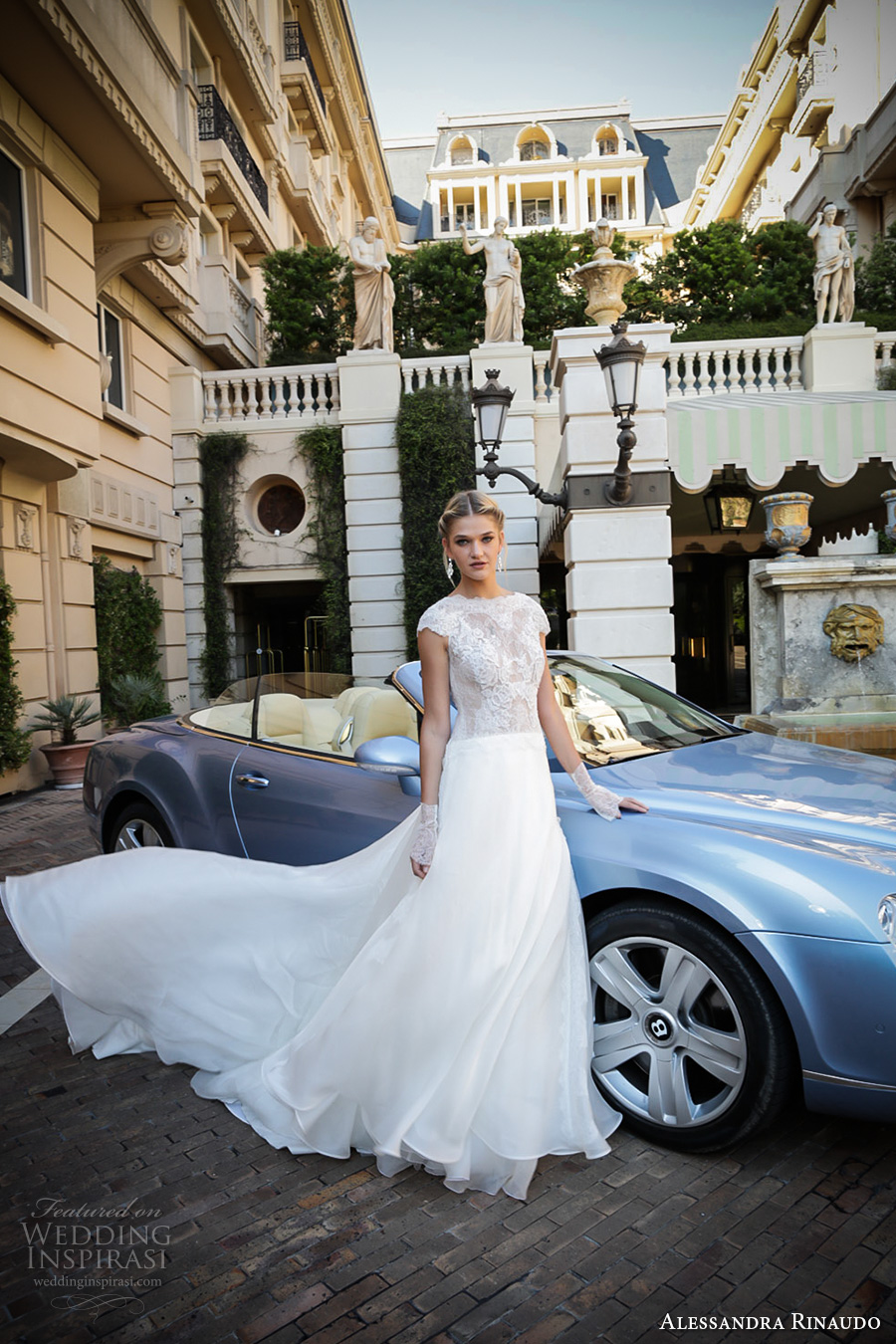 alessandra rinaudo 2017 bridal cap sleeves boat neckline heavily embellished bodice romantic a line wedding dress lace back chapel train (32) mv