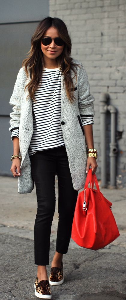 Cute Outfit Ideas To Wear With Slip-On Sneakers (20)