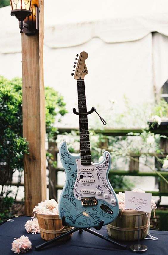 electric guitar guest book