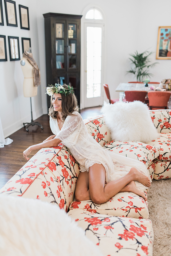 boudoir ideas - photo by Jillian Rose Photography http://ruffledblog.com/romantic-wedding-ideas-with-pops-of-jewel-tones