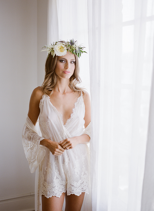 boudoir session - photo by Jillian Rose Photography http://ruffledblog.com/romantic-wedding-ideas-with-pops-of-jewel-tones