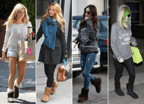 How to wear Shearling Boots - Ideas to wear Dresses with boots (13)