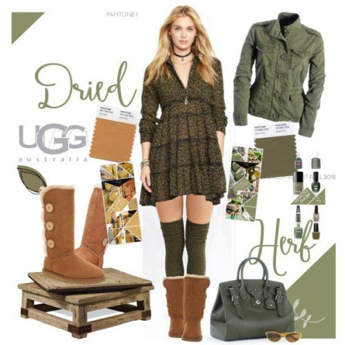 How to wear Shearling Boots - Ideas to wear Dresses with boots (14)