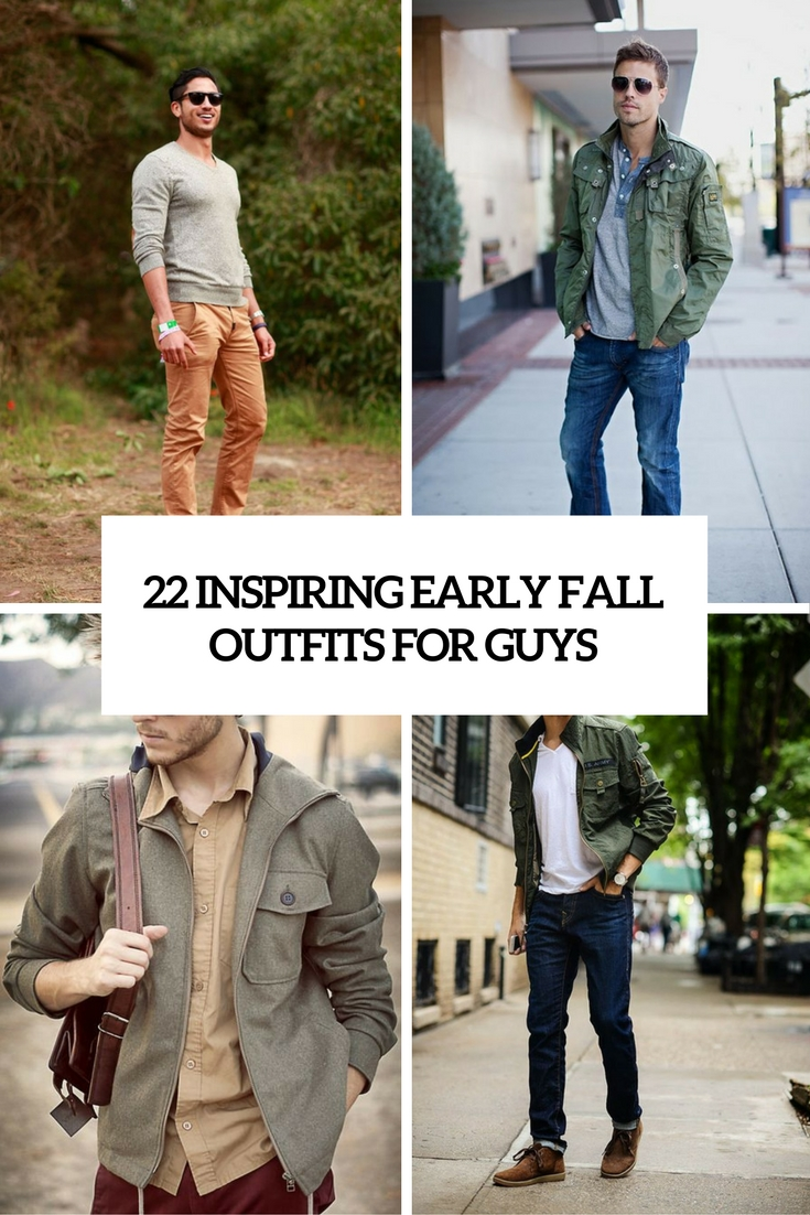 inspiring early fall outfits for guys cover