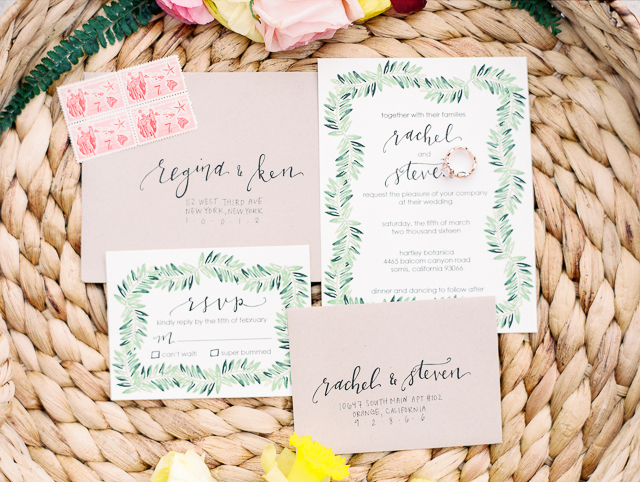 Hawaiian style wedding invitations | Angelica Chang Photography