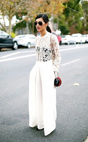 How to Wear White Wide Leg Pants (7)