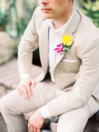 Tropical boutonnière | Angelica Chang Photography