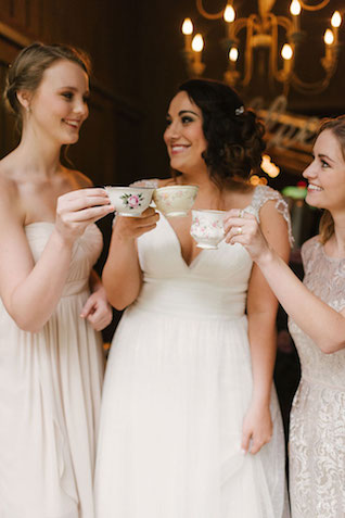 Coffee in vintage tea cups | Lauren Rae Photography