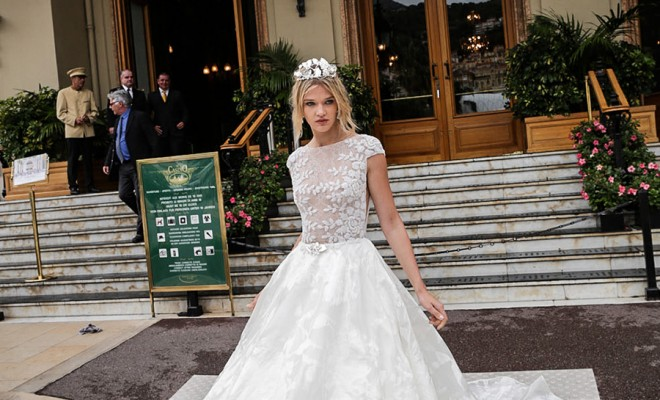 32e38a2e117 ... sleeves bateau neckline floral heavily embellished bodice romantic  princess a line. The 2017 Alessandra Rinaudo Bridal Couture collection  flits ...