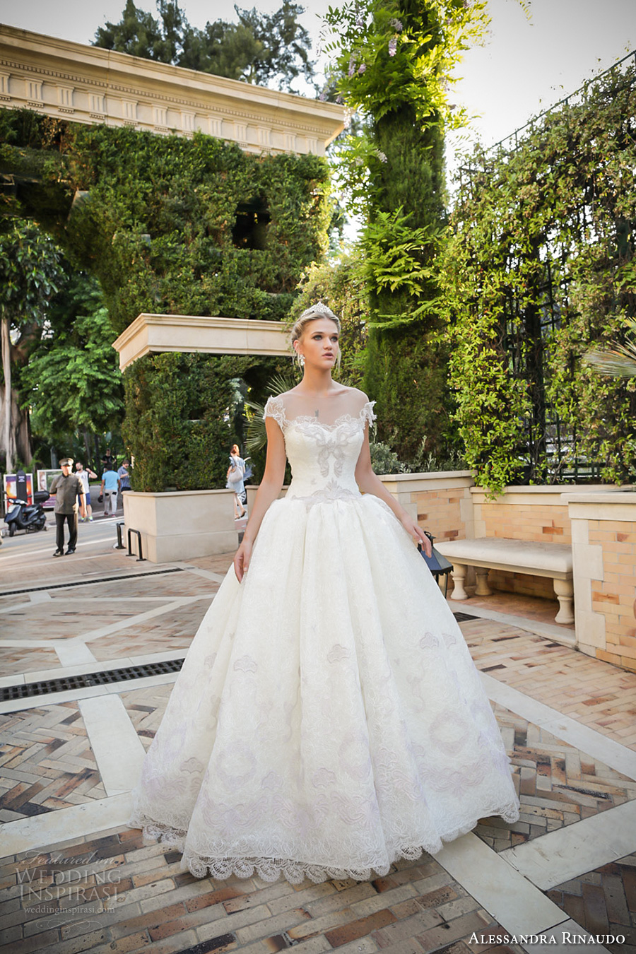 alessandra rinaudo 2017 bridal cap sleeves sweetheart neckline heavily embellished bodice princess ball gown wedding dress lace back chapel train (35) mv