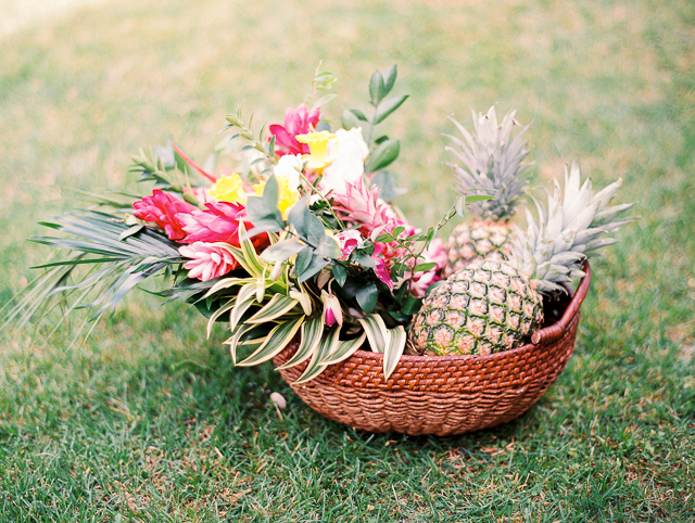 Pineapple centerpieces | Angelica Chang Photography