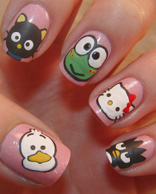 best funky nail art designs for girls (10)