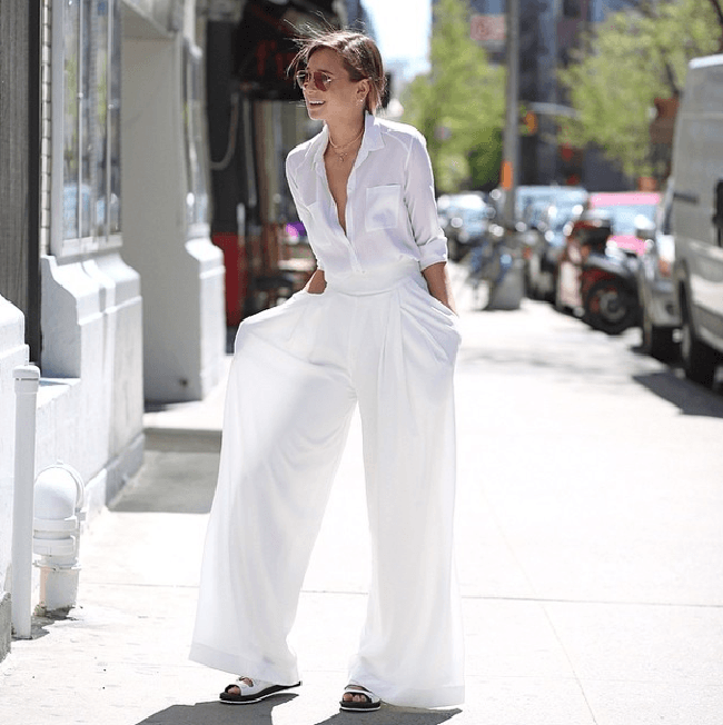 How to Wear White Wide Leg Pants (9)