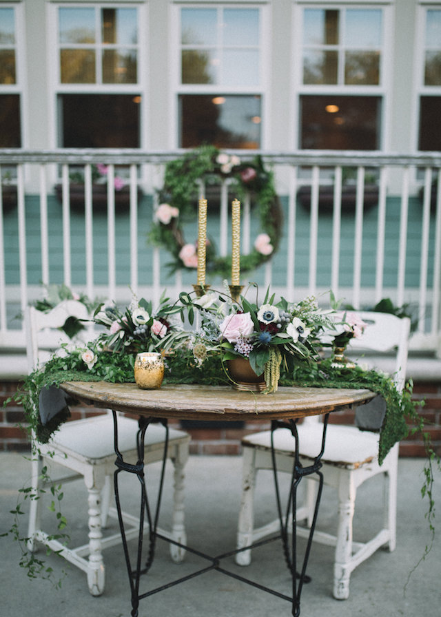 Elopement at home wedding reception | Palafox Street Weddings