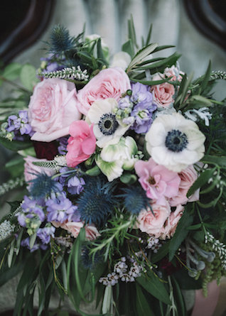 Pink and purple bridal bouquet | Palafox Street Weddings