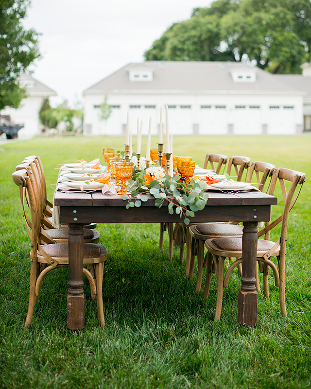 Orange and green tablescape | Kelly Marie Photography