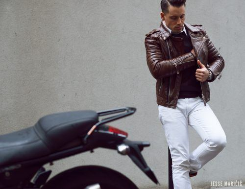 Ideas for Men to wear Leather Jackets (1)