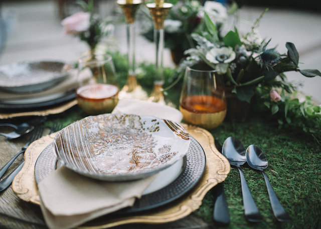 Moss place mat | Palafox Street Weddings