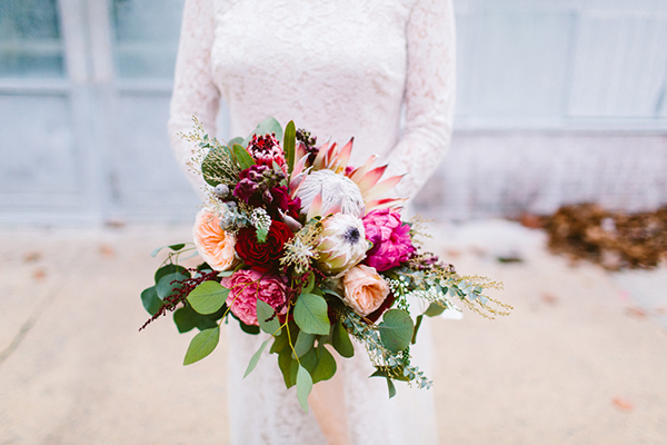 bridal bouquet - photo by Redfield Photography http://ruffledblog.com/romantic-philadelphia-horticulture-center-wedding