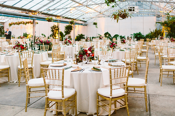 gold and red weddings - photo by Redfield Photography http://ruffledblog.com/romantic-philadelphia-horticulture-center-wedding