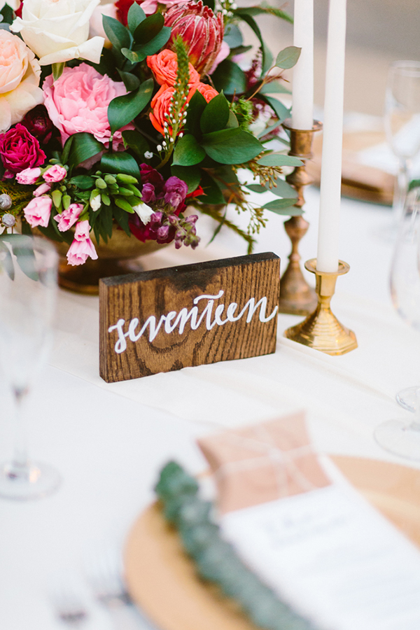 table numbers - photo by Redfield Photography http://ruffledblog.com/romantic-philadelphia-horticulture-center-wedding