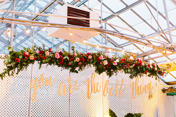 wedding reception signs - photo by Redfield Photography http://ruffledblog.com/romantic-philadelphia-horticulture-center-wedding