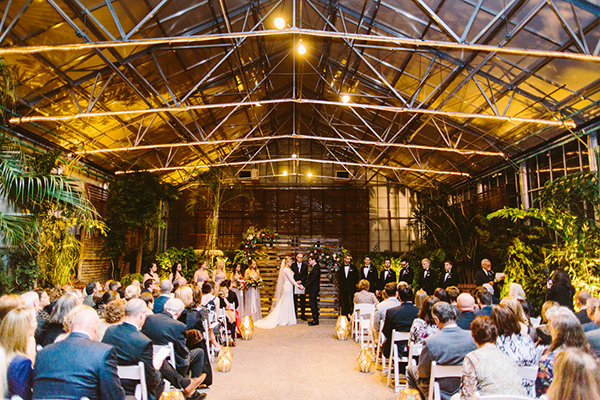 Philadelphia wedding venues - photo by Redfield Photography http://ruffledblog.com/romantic-philadelphia-horticulture-center-wedding