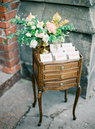 Calligraphy place cards | Kir & Ira Photography
