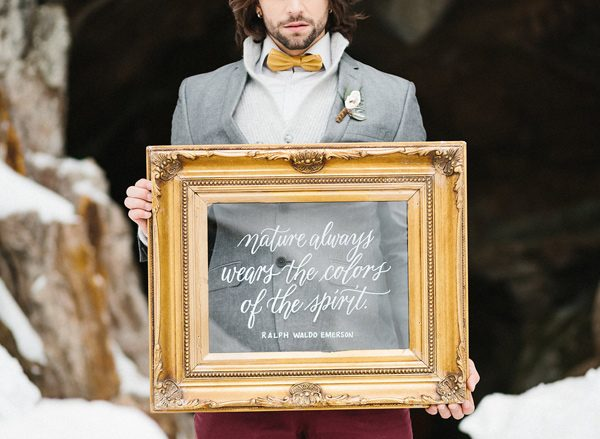 wedding quotes - photo by Sonia Bourdon Photographe http://ruffledblog.com/geometric-gems-styled-elopement